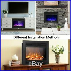 28.5 Electric Embedded Insert Heater Fireplace Glass Flame Log Remote Control
