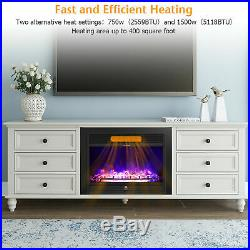 28.5 Electric Embedded Insert Heater Fireplace Glass Log Flame withRemote control