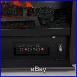 28.5 Electric Fireplace 1500W Embedded Insert Heater with Remote, Realistic Woo