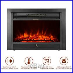 28.5 Electric Fireplace Insert Stove Touch Heater 750W-1500W Remote BEST