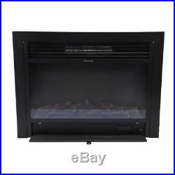 28.5 Embedded Electric Insert Heater Fireplace Log Flame Remote Surround
