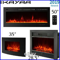 28.5'' Fireplace Electric Embedded Insert Glass Log Flame Remote 3 Size A6G0
