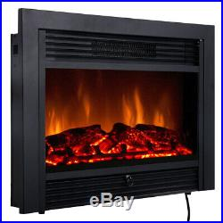 28.5 Fireplace Electric Embedded Insert Heater Glass Log Flame Christmas Gifts