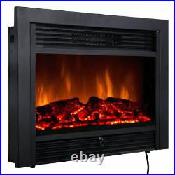 28.5 Fireplace Electric Embedded Insert Heater Glass Log Flame Remote Home