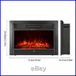 28.5'' Fireplace Electric Embedded Insert heater Glass Log Flame Remote NEW