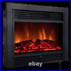 28.5 Wall Mount Fireplace Electric Embedded Insert Heater 3 flame Color Remote