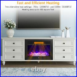 28.5 Wall Mount Fireplace Electric Embedded Insert Heater with Flame & Remote