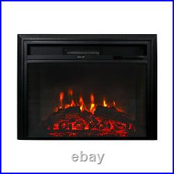 28 750With1500W Recessed Electric Fireplace Wall Mount Heater Insert Home Indoor