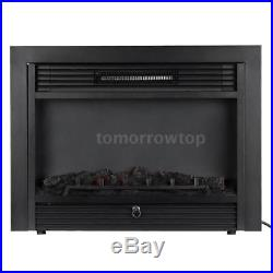 28.7 Embedded Fireplace Electric Insert Heater Adjustable LED Flame Heat F0N5