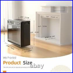 28.8'' Electric Fireplace Recessed Heater Insert/Freestanding with Remote Control