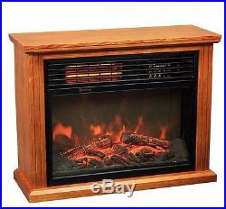 28 Electric 3d Flame Firebox Fireplace Embedded Insert Heater oak color cabinet