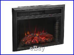 28 Electric Firebox Fireplace Insert Room LED Heater Log Tempered Glass 5200BTU