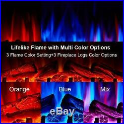 28 Electric Firebox Insert Heater and Glowing Logs for Fireplace