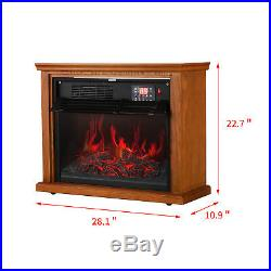 28 Electric Fireplace Embedded Insert Heater Flame with Remote Control