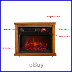 28 Electric Fireplace Embedded Insert Heater Flame with Remote Control Save