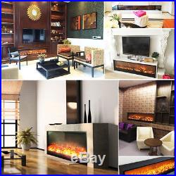 28 Electric Fireplace Insert Burner Flame Heating With Remote Control