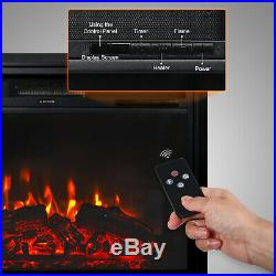 28 Embedded Electric Fireplace Wall Mount Heater Flame Insert with Remote Control