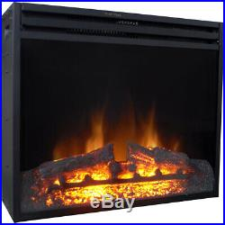 28-In. Freestanding 5116 BTU Electric Fireplace Heater Insert with Remote Con