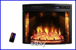 28 Insert Free Standing Electric Fireplace Firebox Heater 3D Flame Wood Y-06-28