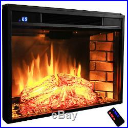 28 Insert Space Freestanding Electric Fireplace Heater 3D Glow Flame Y-EF05-28