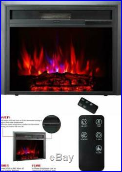 30 Electric Fireplace Insert Stove Heater Automatic Shut Off 750W-1500W Remote