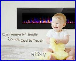 30''Electric Fireplace insert, Recessed&Wall-Mounted heater, Room Decor, remote
