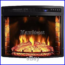 30 Free Standing Insert Wood Flame Electric Firebox Fireplace With Remote