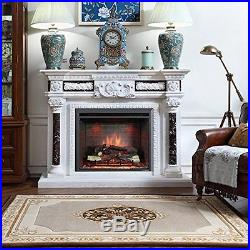 30 Inch Western Electric Fireplace Insert with Remote Control, 750/1500W, Black