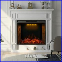 30'' Recessed / Wall Mount Fireplace Electric Insert Heater Multicolor Top Light