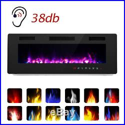 30 Ultra Thin Electric Fireplace Insert, Wall Mounted with Remote Control