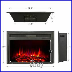 32 1500W Recessed Electric Fireplace Heater Insert w Remote Control Thermostat