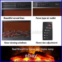 32 Electric Fireplace Heater Insert wth Remote Control Thermostat Wall Mount