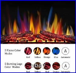32 Electric Fireplace Insert, Freestanding & Recessed Electric Fireplace