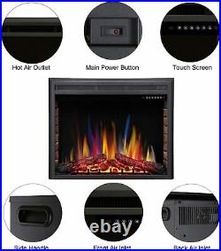 32 Electric Fireplace Insert, Freestanding & Recessed Electric Stove Heater