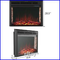 32 Electric Fireplace Insert Heater Wall Mounted with Remote Control 750With1500W