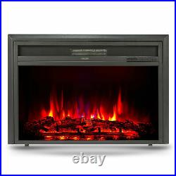 32 Recessed Electric Heater Fireplace Insert w Remote Control Thermostat 1500W