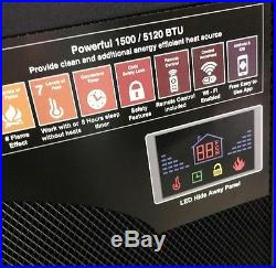 32in wifi smarth infrared quartz electric fireplace -only insert