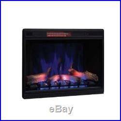 33 3D Infrared Quartz Electric Fireplace Insert with Safer Plug