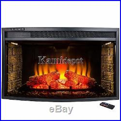 33 4 Setting Adjustable LED Light Freestanding Insert Electric Fireplace Heater