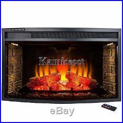 33 4 Setting Adjustable LED Light Freestanding Insert Electric Fireplace Heater
