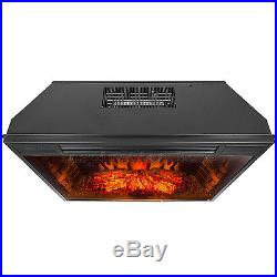 33 Electric Fireplace Insert Free Standing Firebox Heater 3D Flame Logs Remote