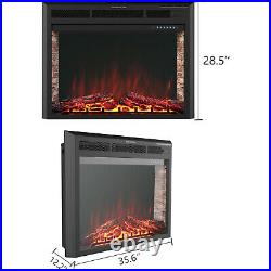 33 Electric Fireplace Insert Heater Wall Mounted with Remote Control 750With1500W