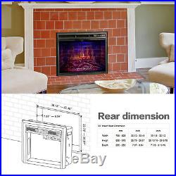 33 Electric Fireplace Insert, Traditional Recessed Electric Stove Heater 1500W