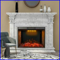 33'' Embedded Led Electric Fireplace Insert Heater 3 Top Light Colors Remote New