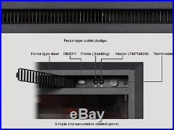 33 Inch Western Electric Fireplace Insert with Remote Control, 750/1500W, Black