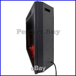 33 Insert Free Standing Electric Fireplace Firebox Heater 3D Flame Logs Remote
