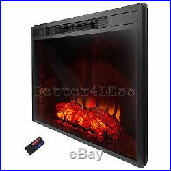 33 Insert Wood Flame Free Standing Electric Firebox Fireplace Remote control