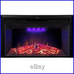 33 Roluxy Electric Fireplace Insert Log Speaker, Remote Control, 750/1500W