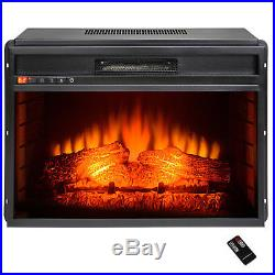 34 Black Insert Freestanding 22 Settings Logs Electric Fireplace Heater