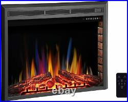 34 Inch Electric Fireplace Insert, Infrared Electric Fireplace, Three 3D Color